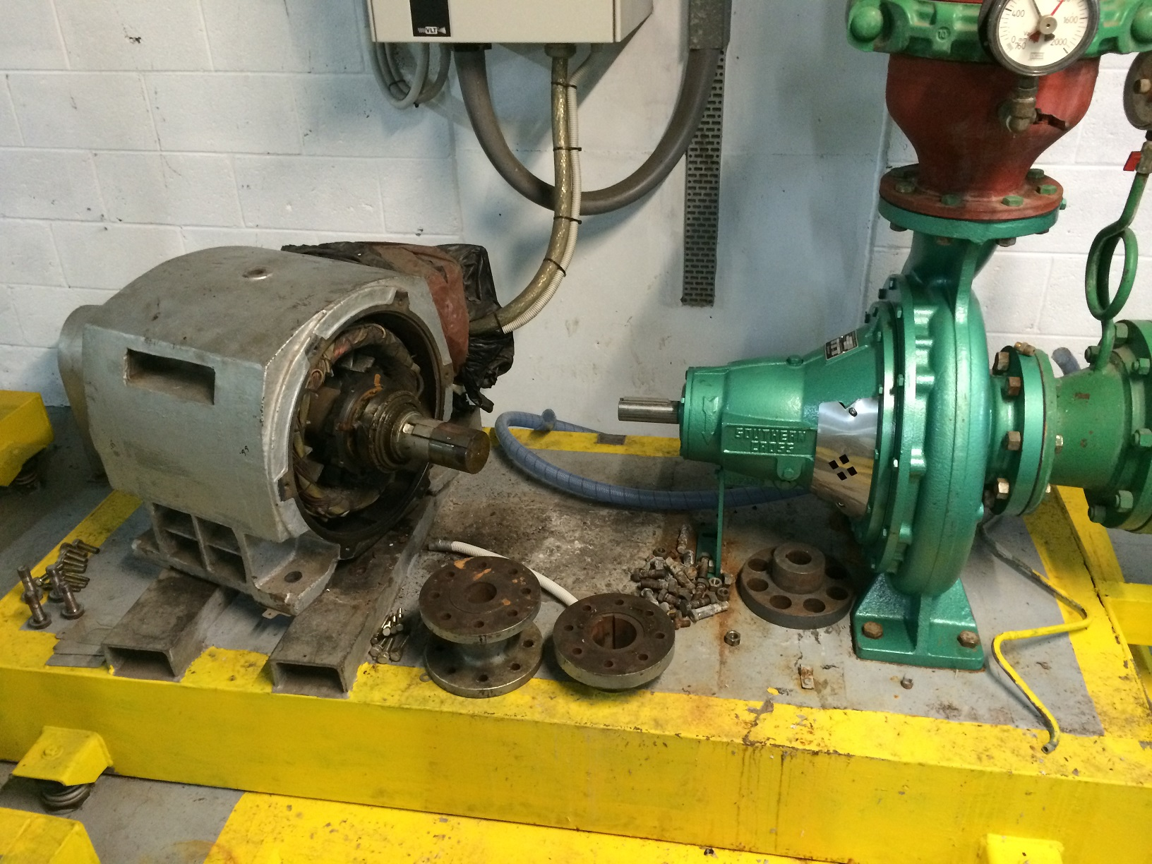 Cold Water Pump Replacement Motor Overhaul And Laser