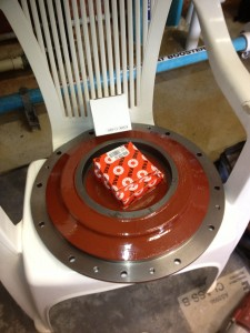 New bearings mechanical seal and epoxy coated backing plate.