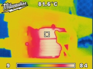 Thermal image over heating electric motor