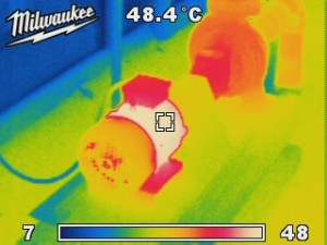 Long coupled pump thermal image